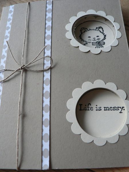carte magique bella et pretty kitty de Stampin'up