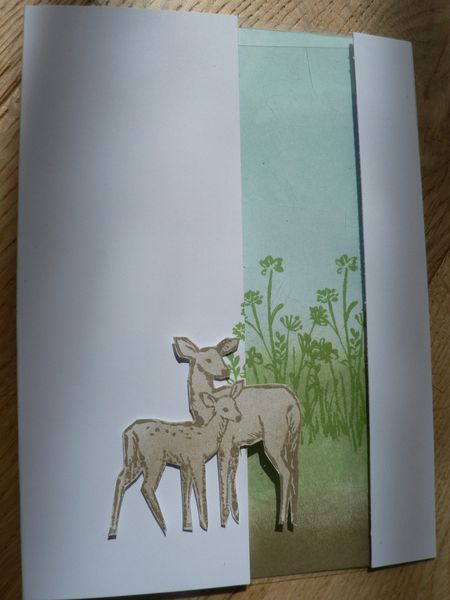 carte petit faon stampin'up &quot&#x3B;in the meadow&quot&#x3B;