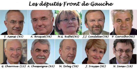 Parlementaires PCF et Front de Gauche s'alarment de leur &quot&#x3B;élimination&quot&#x3B; à l'Assemblée et au Sénat