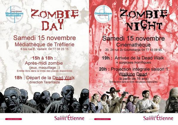 Zombie day &amp&#x3B; night le 15 novembre 2014 à Saint-Etienne