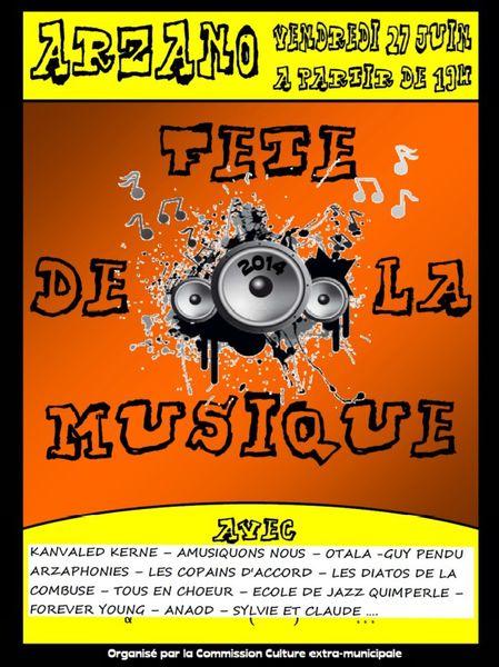 Fete de la  musique  2014 a ARZANO