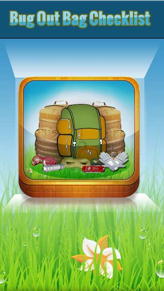 "application Androïd ""Bug out Bag survival guide"""
