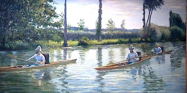 Canoes on the Yerres river – 1878 Gustave Caillebotte