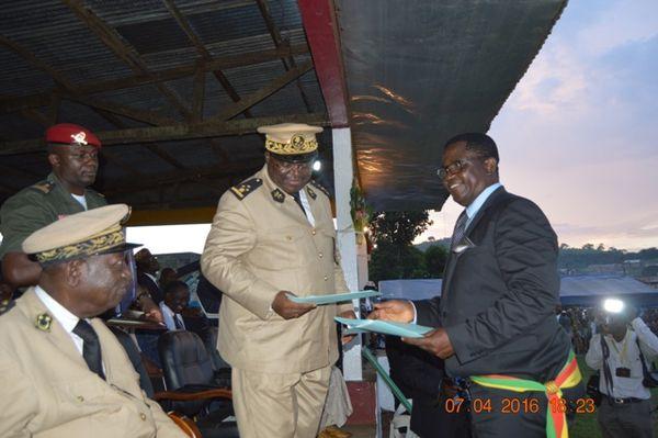Visite de travail de Mr Ivaha Diboua Samuel à Mélong le 06 avril 2016 : Mot de bienvenue de du Maire de Kuete Jean  lors de cette prise de contact et d'animation socio-économique du Gouverneur de la Région du Littoral