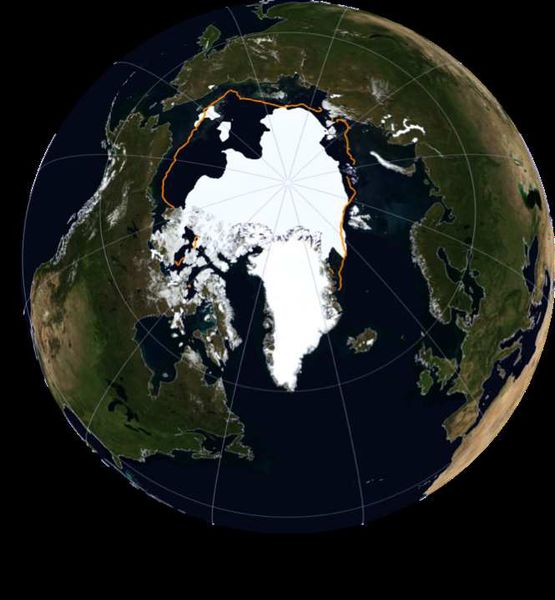 Meereseisminimum 10. September 2016 Quelle: NASA Earth Observatory