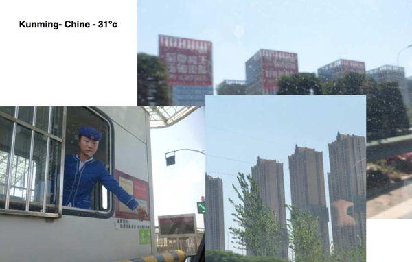 Arrivée à Kunming- Chine