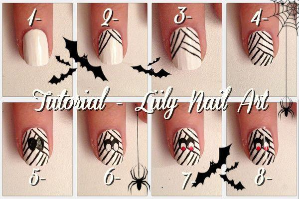 Tutoriel nail art momie, pour halloween