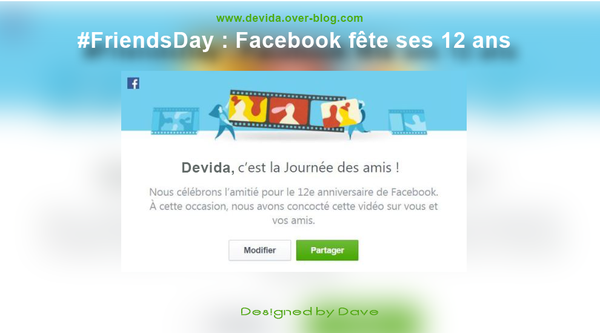 FriendsDay : Facebook fête ses 12 ans