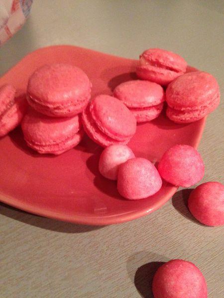 Macarons ganache fraise tagada
