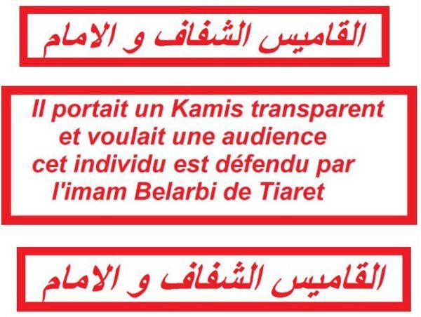 Tiaret, le kamis transparent, l'Audience et ...l'Imam ...