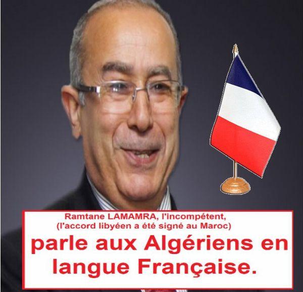 Ramtane LAMAMRA parle aux Algériens en Langue Française.