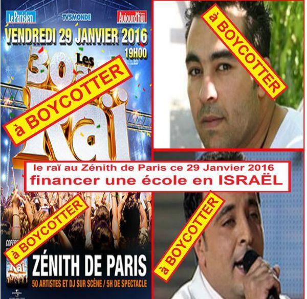 le Raï, au Zénith de Paris, pour financer une école en Israël !??
