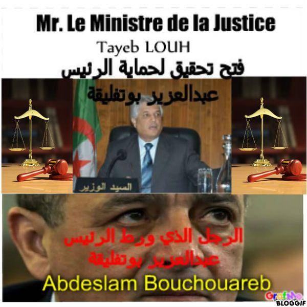 Abdeslam Bouchouareb et la Justice Algérienne, السيد وزير العدل و حافض الاختام