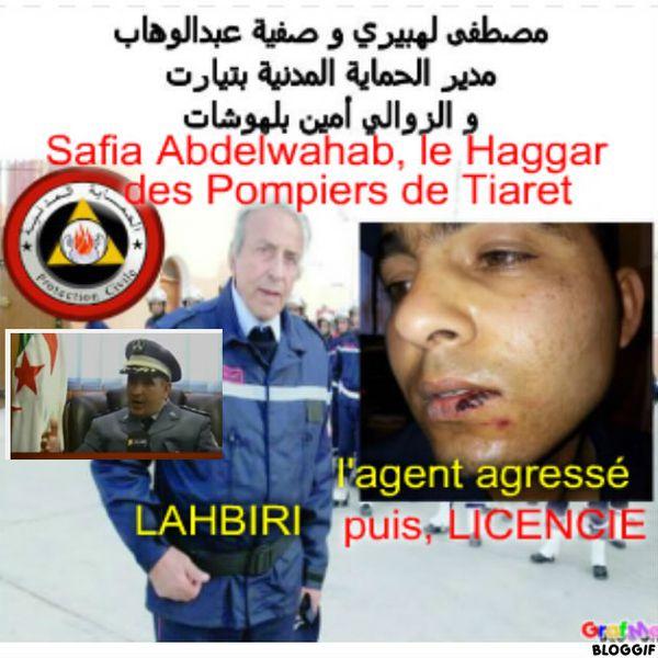 Mustapha LAHBIRI, Safia Abdelwahab (Tiaret) et l'agent Amine Belhouchet.