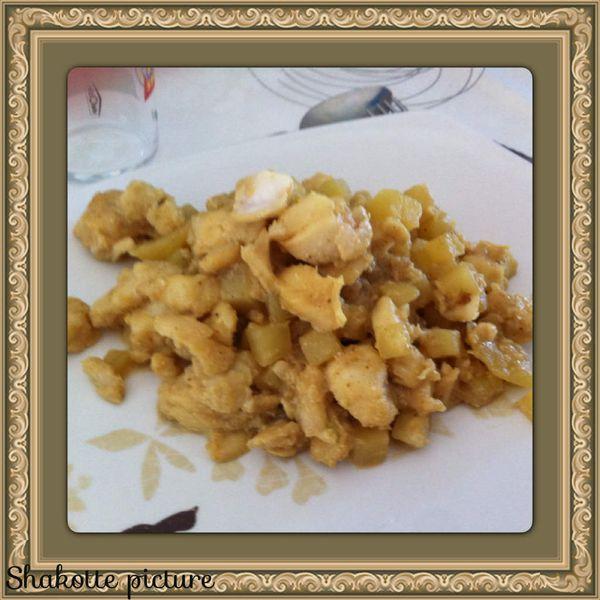 Curry de colin au lait de coco