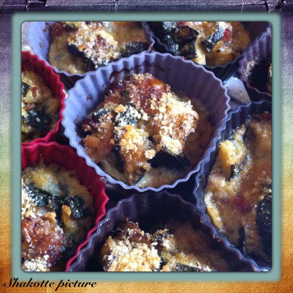 Timbales courgette mozzarella