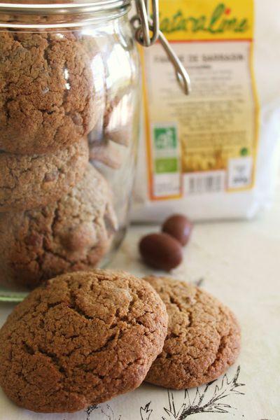 Mes cookies gourmands aux Kinder Schoko-Bons et à la farine de Sarrasin