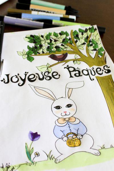 Mon petit lapin de Pâques {dessin}