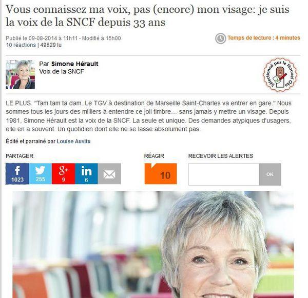 La voix SNCF depuis 33 ans