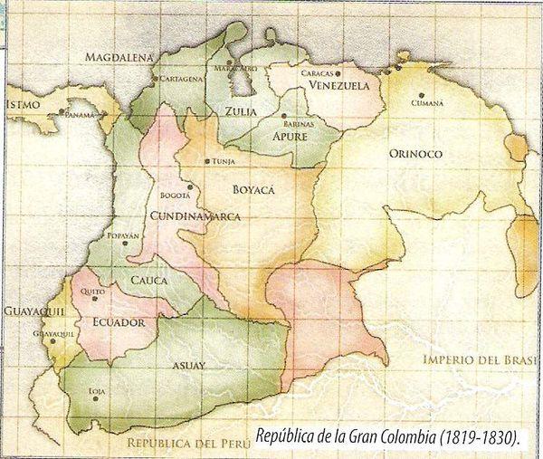 Crisis y disolución de la gran Colombia