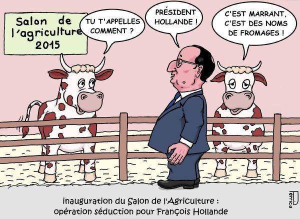 François Hollande / salon de l'agriculture / vaches