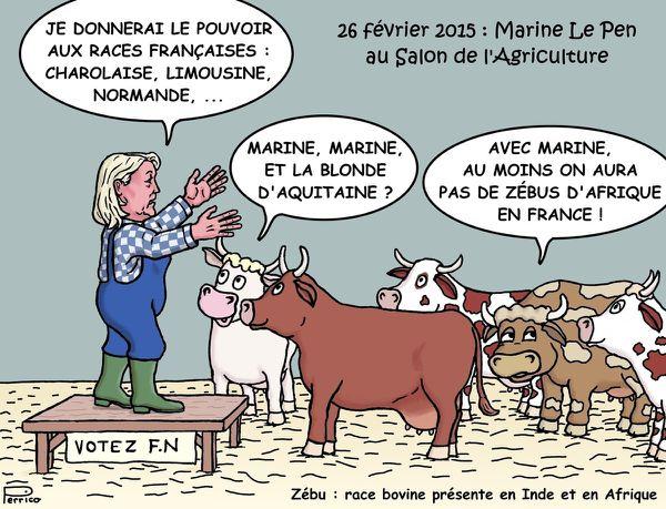Marine le pen au salon de l 39 agriculture le blog de perrico for Salon de l4agriculture 2015
