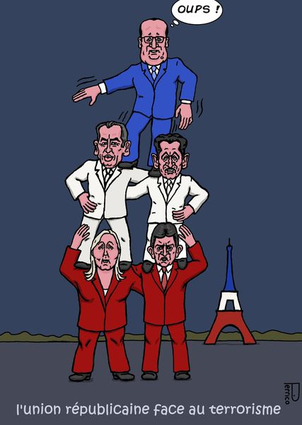 François Bayrou / François Hollande / Larine Le Pen / Jen Luc Mélanchon / Nicolas Sarkozy