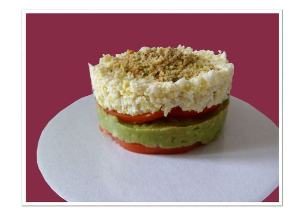 Timbale avocat tomate oeuf