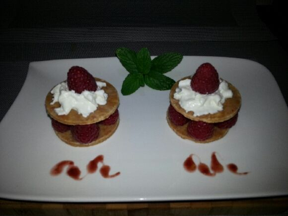 mille-feuilles feuillantines framboises chantilly