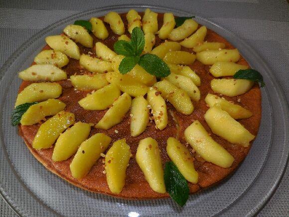 gâteau magique caramel pommes