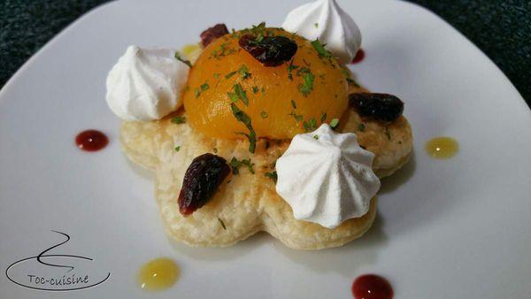 tartelettes feuilletées aux abricots et pâte de spéculoos