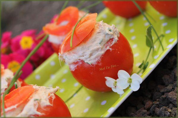 Tomates farcies thon/mascarpone