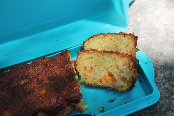 Cake à l'abricot coco ... ou abricot caramel