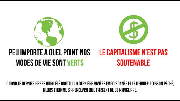 Le capitalisme, vert ou pas, est un suicide écologique