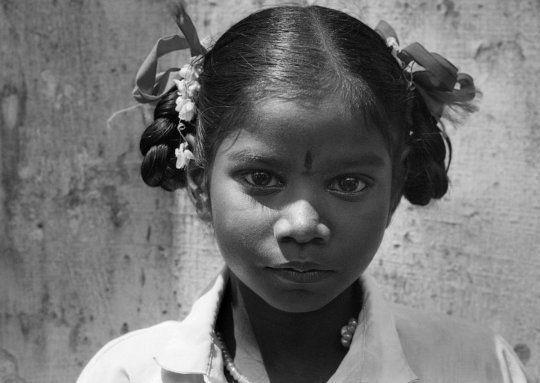 Photo : portrait d'une enfant dalit dans l'État du Tamil Nadu en Inde / CC riccardo guerrini