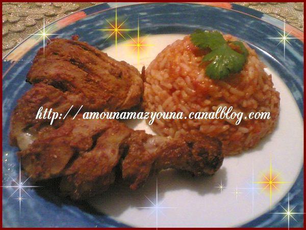 Poulet tandoori قطع الدجاج على الطريقة الهندية او دجاج تندوري مع خلطة توابل التندوري صنع منزلي