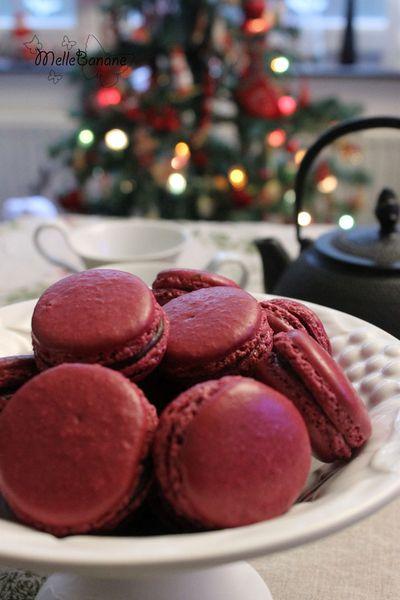 Macaron chocolat thé à la framboise