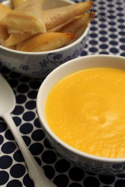 Soupe de patate douce et brick jambon chèvre