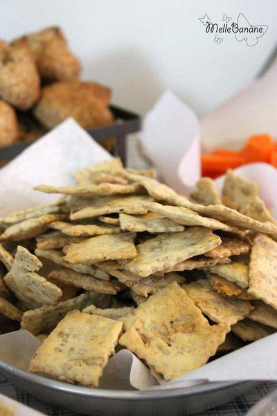 Crackers aux graines de tournesol