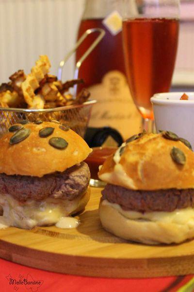 Burger d'autruche et frites de légumes d'automne - Concours champagne en cuisine