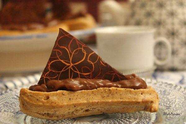 Eclair au chocolat noisette - sans lactose