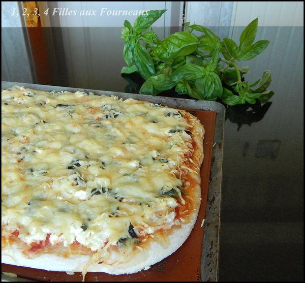 Pizza à la brousse et au basilic  (un vrai délice !!!)