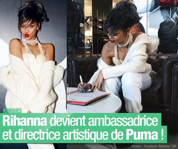 Rihanna devient ambassadrice et directrice artistique de Puma ! #RihannaPuma