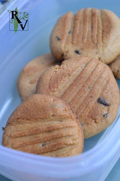 Cookies à la Farine de Chataigne &amp&#x3B; Pépites de Chocolat