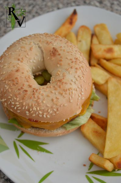 Bagel Façon Burger Végétarien