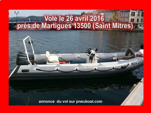 ALERTE VOL DE SEMI-RIGIDE Oversea 20  4tps yamaha 115 cv Martigues 13500