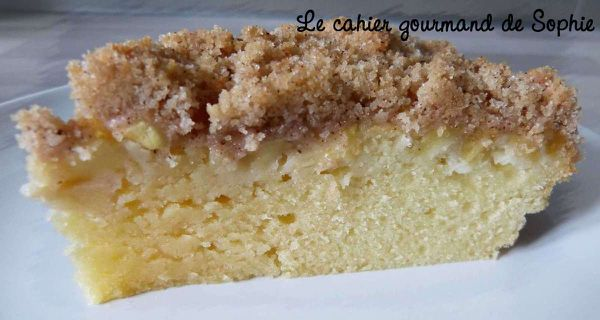 Crumb cake pommes cannelle