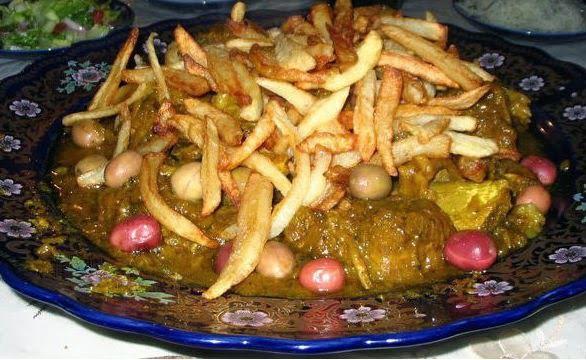 طاجين اللحم ببطاطا مقلية لهدى اليداري
