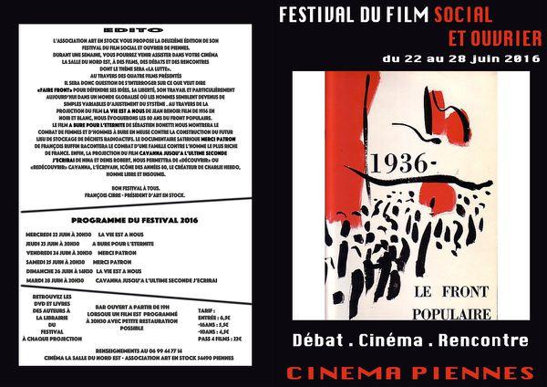 Festival du film social et ouvrier de Piennes..