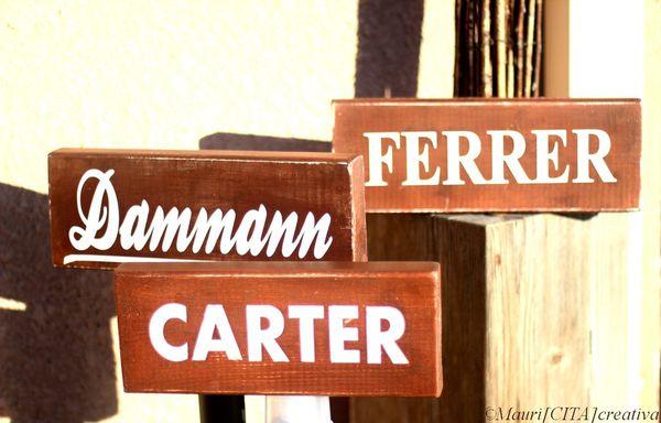 Mauri Cita Plaques Nom - Placas Apellidos - Name Signs - PVPP